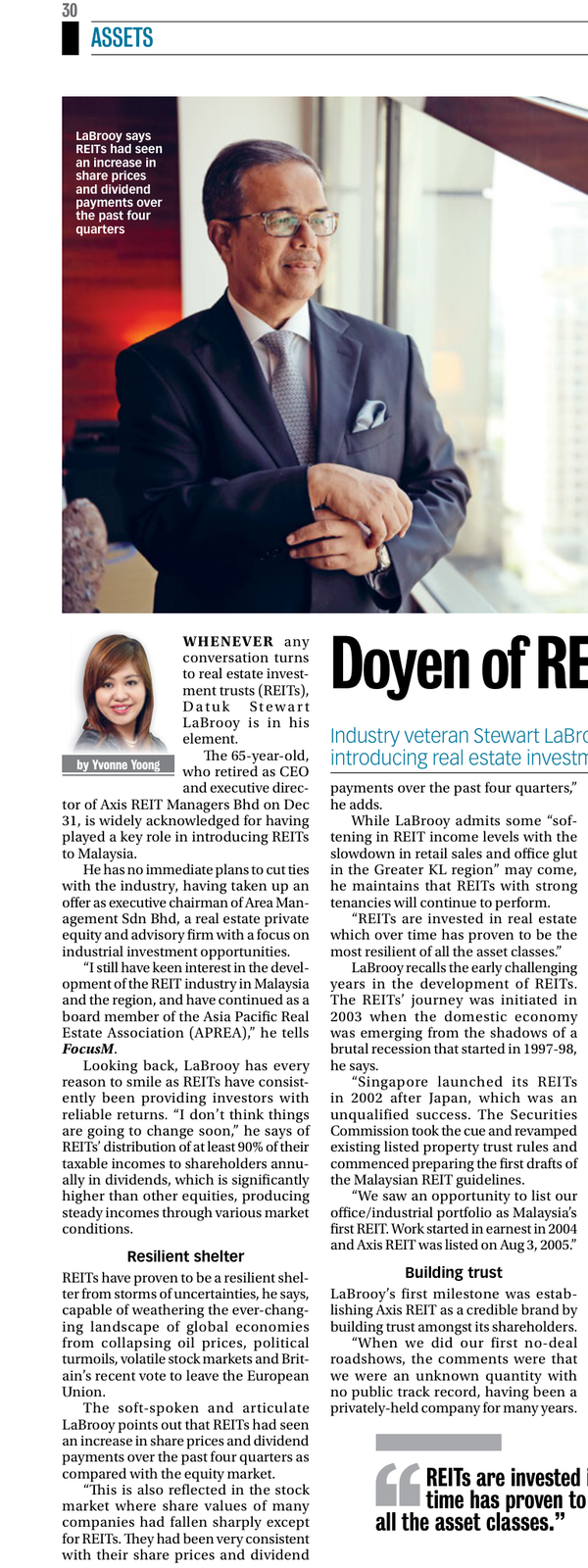 Doyen of REIT